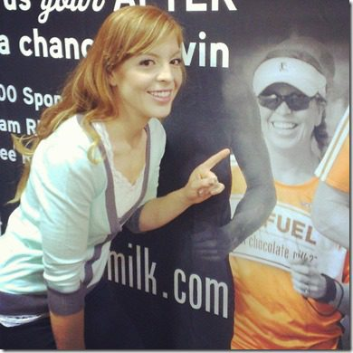 monica on chocolate milk thumb A Year of Running Recap   Running 13 Half Marathons in 2013 and Failing, Kinda
