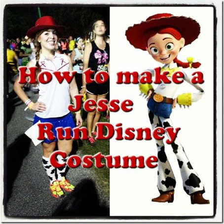 how to make jesse toy story costume run disney thumb Run Disney Jessie Running Costume