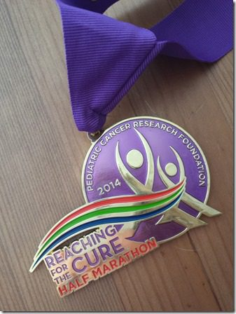 pcrf half marathon medal training 800x600 thumb PCRF Half Marathon Results and Recap WITHOUT a watch