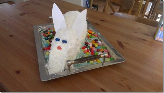 how to make an easter bunny cake thumb Meatless Monday–How to Make a Bunny Cake and Running in Orange County