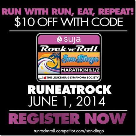 rock n roll san diego marathon discount thumb1 Training for Rock N Roll San Diego Marathon and Suja Juice