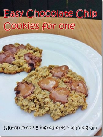easy chocolate chip oatmeal cookie recipe thumb Chocolate Chip Oatmeal Cookie for One