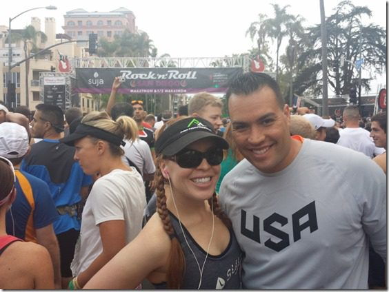 rer and blessedrunner 800x600 thumb Suja Rock N Roll Marathon Results and Fun in SD