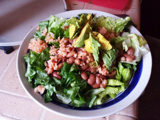 beans and rice salad 800x600 Straight Road Trippin