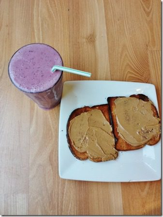 toast and smoothie after running 600x800 thumb Surprise Guest Hungry Runner Girl