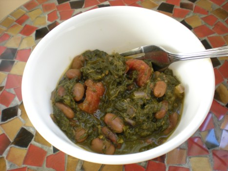 dscn8239 Frijoles with Spinach