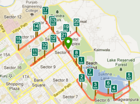 Chandigarh_Marathon_map