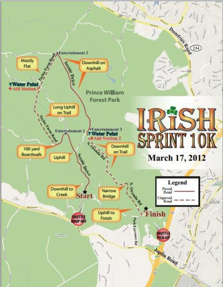 Irish-sprint-10k-map