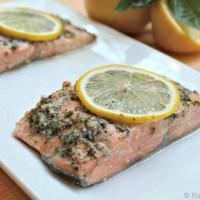 Easy Lemon Pesto Salmon