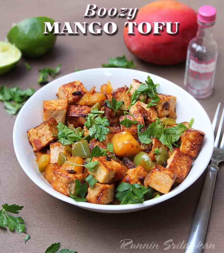 Boozy mango tofu