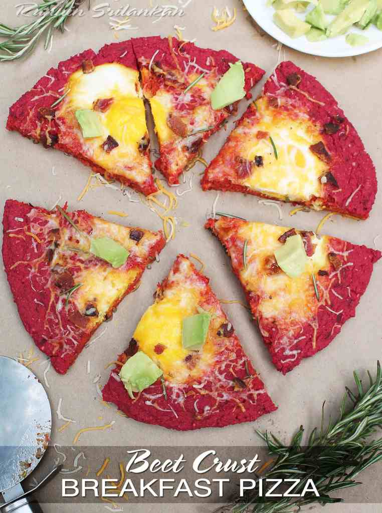 beet crust breakfast pizza