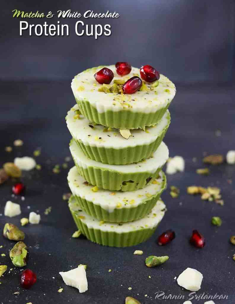 Matcha & White Chocolate Protein Cups