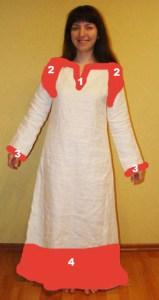рубаха женская c узором 2