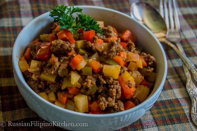 Filipino Beef Giniling Russian Filipino Kitchen