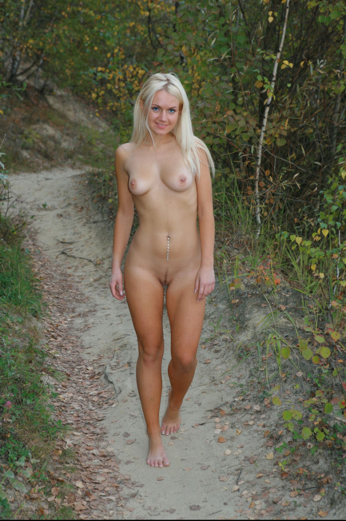 Thank naked girl public better