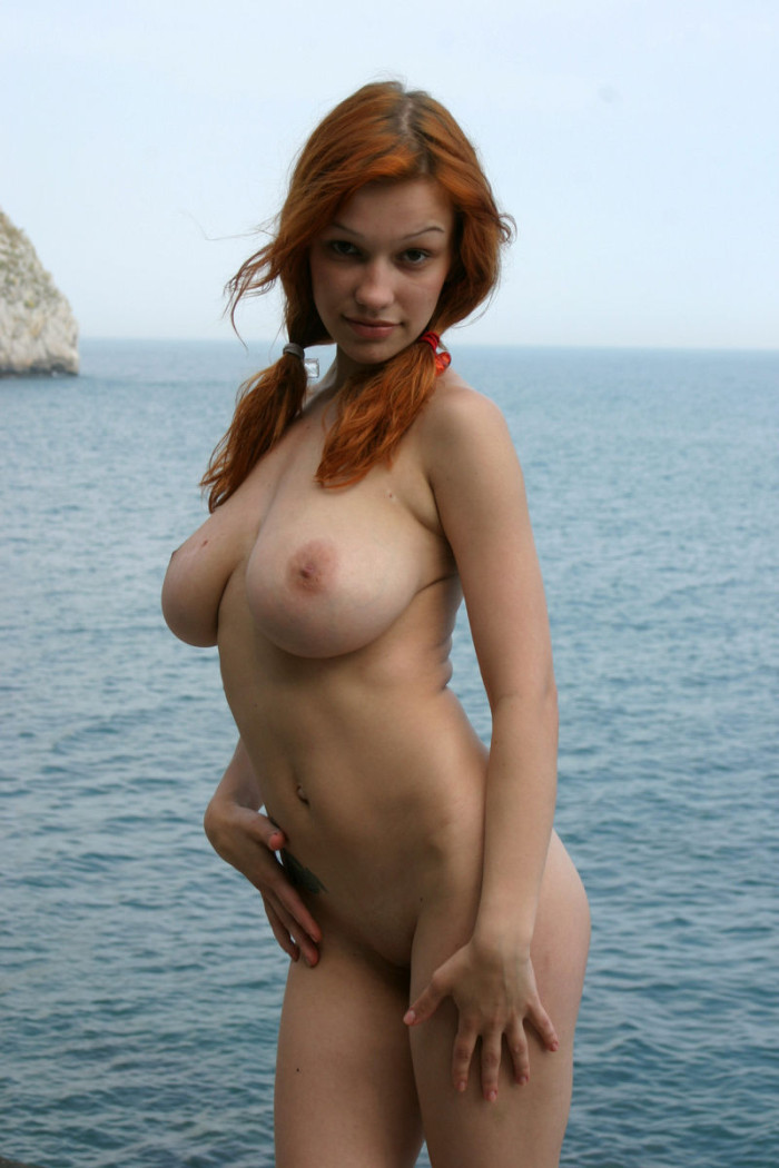 redhead with big