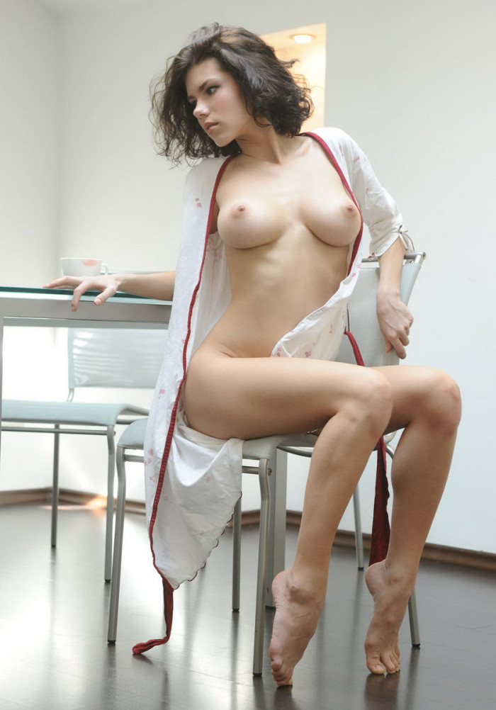 Very hot brunette with amazing big boobs