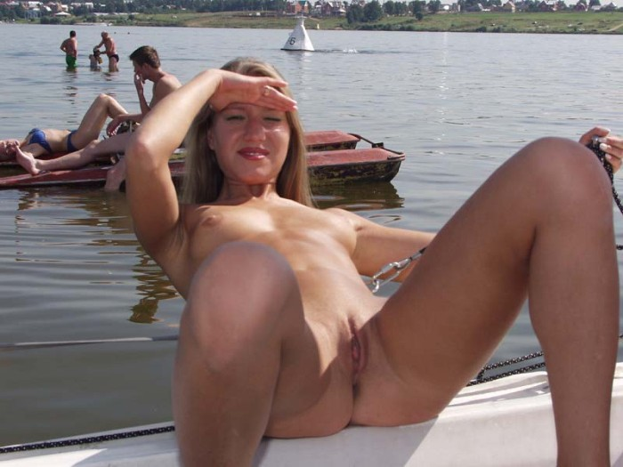 Remarkable, Teen girls naked on a boat there