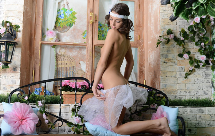 Russian teen with tender skin and amazing body