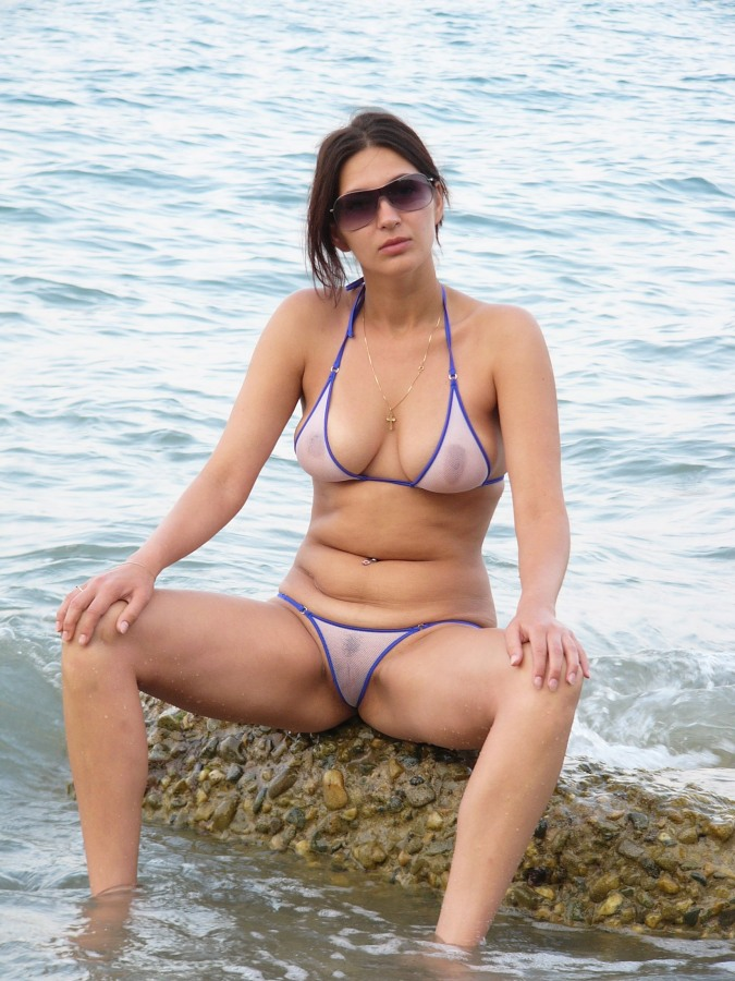Amateur in micro see through bikini - 75 Pics - xHamstercom
