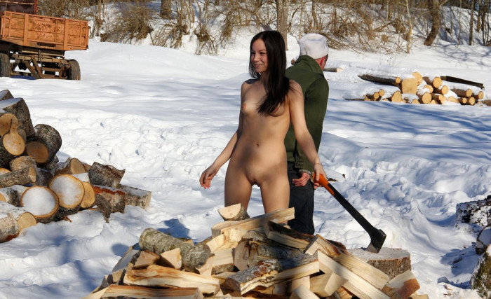 Opinion you Nude girls chopping wood are available?