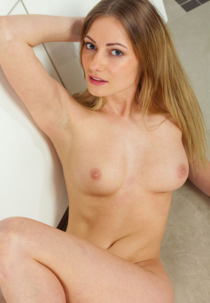 Tall slim blonde girl