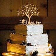 Rustic Wedding Cake Topper – Mr and Mrs – WA1040