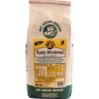 All About Bread Rustic Wholemeal Breadmix 2kg