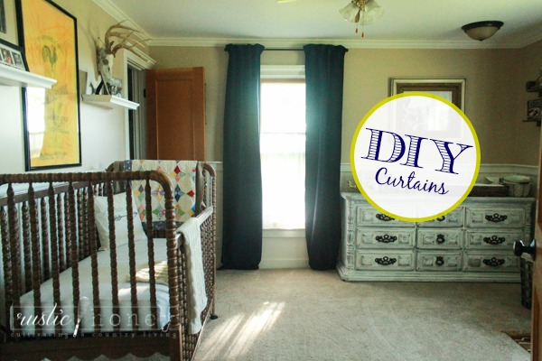 DIY Hidden Tab Curtains Using Cafe Rings