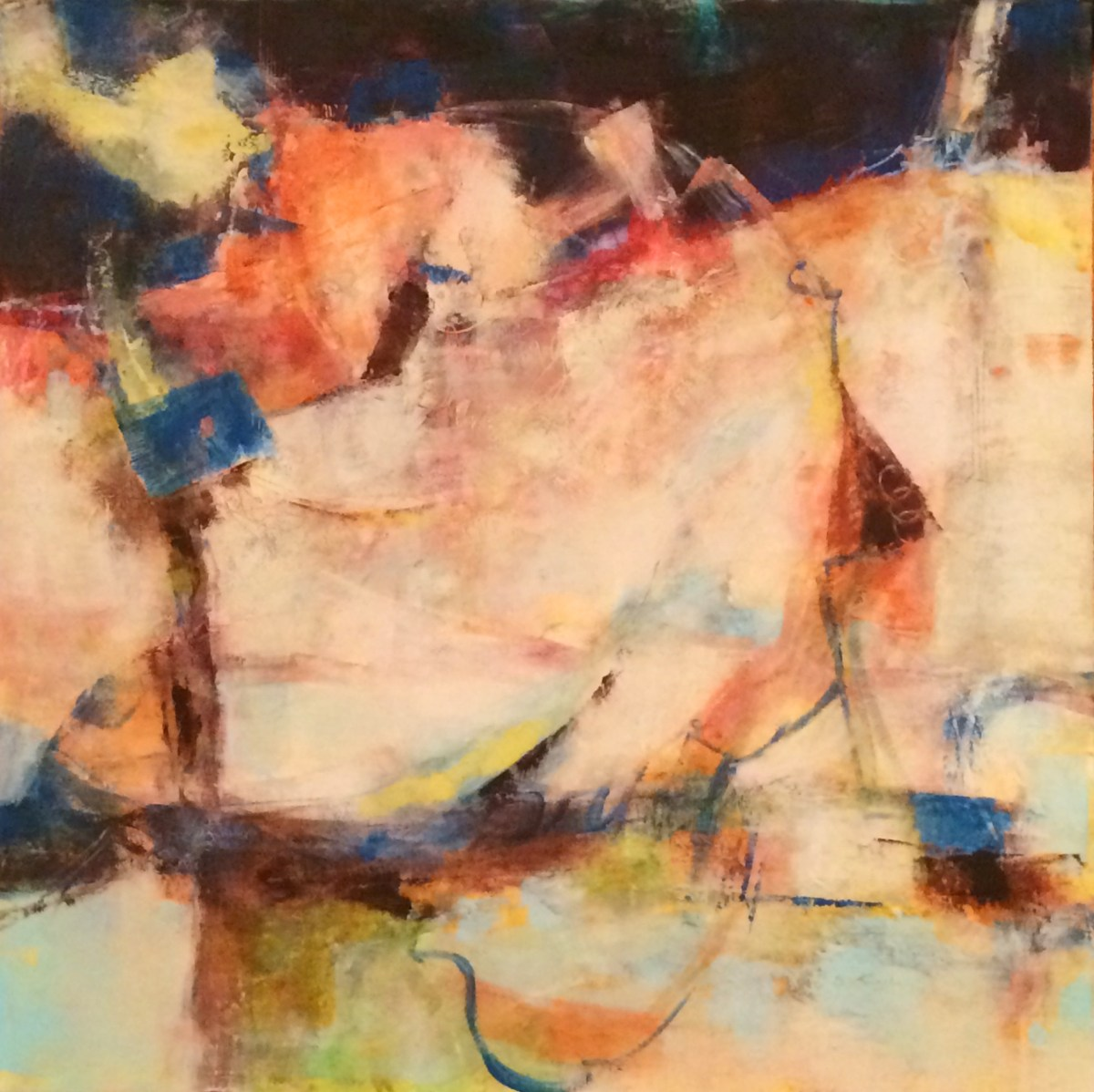 """New Oil & Wax Abstract """"Necessary Current"""""""