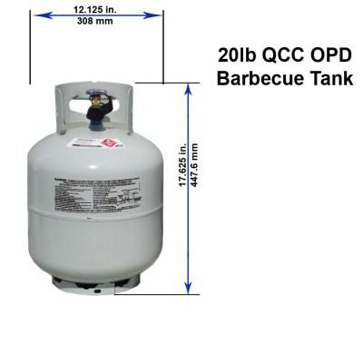 20 pound 5 gallon LP Propane Tank with Dimensions for RV
