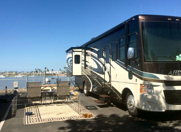 Mission Bay campsite