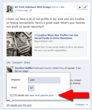 find your most popular facebook post