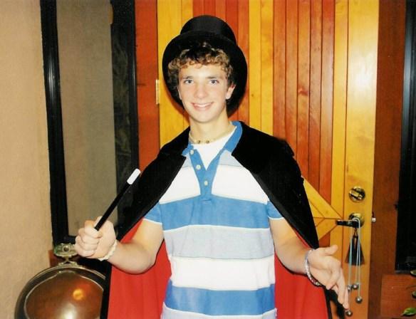 Ryan's first magic performance