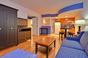 Living Room Hotel Indigo Buffalo