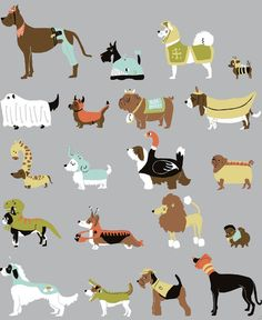 Retro dog print, a must have hound wallpaper?