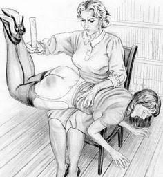 spanking boys drawings