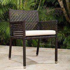 source outdoor matterhorn dining arm chair with cushion allmodern furniture napa bar side c