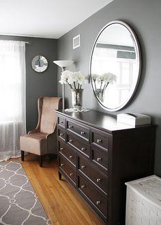 homemade baby gate grey walls brown furniture w