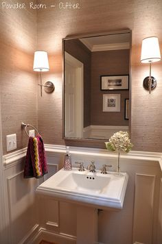 1000+ ideas about Small Bathroom Wallpaper on Pinterest | Pedestal Sink Bathroom, Bathroom ...