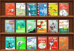 Dr. Seuss books with