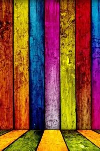 Multi colored wood p