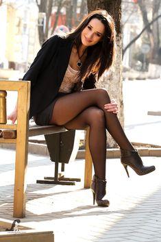 crossed legs in stockings