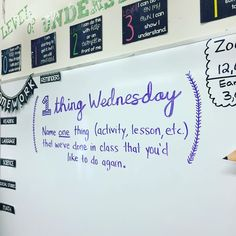 One Thing Wednesday