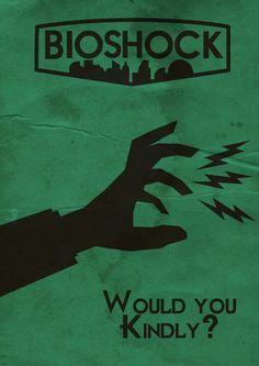 BioShock art design poster Andrew Ryan A man chooses a slave obeys | Gaming art, design ...