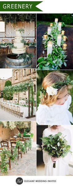 natural greenery wed