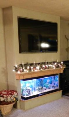 Fishtank Mantel & TV DIY Project