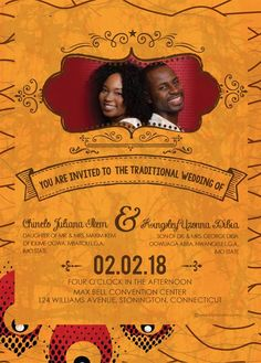 African invitation cards invitationswedd south african traditional wedding invitation card umembeso stopboris Image collections