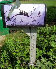 painted mailbox designs. Painted Mailbox Ideas. Cute Custom Designs Yard Landscape Ideas