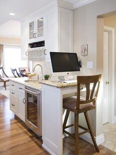 Cool Office Space  Kitchen Office Pinterest Desks  O